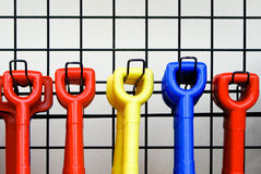 Colored handles Stock Photos