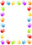 Colored Hands Border Frame Stock Images