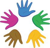 Colored hands Stock Photography