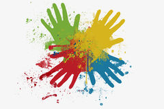 Color hands Stock Photography