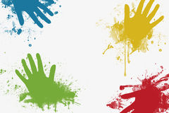 Color hands Stock Images