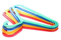 Colored hangers Stock Photo
