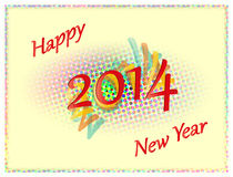 Colored Happy New Year 2014 Stock Images