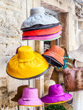 Colored hats Stock Photography
