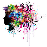 Colored head flower Royalty Free Stock Photos