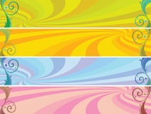 Colored headers background Royalty Free Stock Image