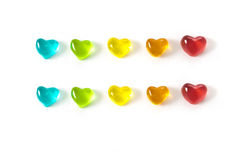 Colored heart Royalty Free Stock Images