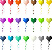 Colored Heart Balloons Stock Images