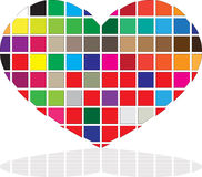 Colored Heart Royalty Free Stock Photo