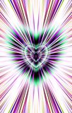 From the colored heart in the middle diverge the stripes to the edges. Image for the Mothers Day, Valentines Day. Illustration & Clipart. Picture for Valentines Royalty Free Stock Photo