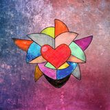 colored heart stock image