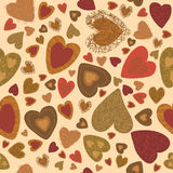 The colored heart. Seamless pattern. Royalty Free Stock Photos