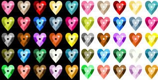 Colored heart sequins Royalty Free Stock Photography