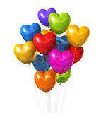 Colored heart shape balloons isolated on white Royalty Free Stock Image