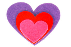 Colored heart shape Stock Photo