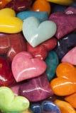 Colored heart stones Fotos de archivo