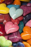 Colored heart stones Stock Photos