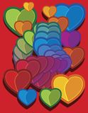 Colored hearts 2 Stock Images