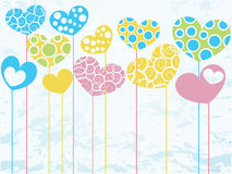 The colored hearts. Royalty Free Stock Images