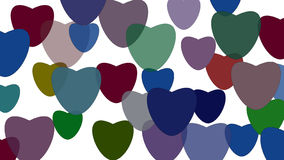 Colored hearts background. A colored hearts background with some nice colors for valentines day royalty free illustration
