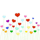 Colored hearts Stock Photography