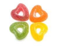 Colored hearts candy with sugar Stock Photography