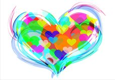 Colored hearts. Stock Images