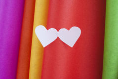 Colored hearts Royalty Free Stock Image
