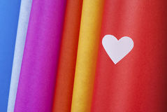 Colored hearts Stock Photo