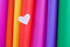 Colored hearts Stock Image