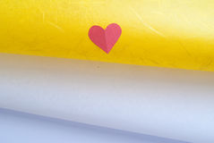 Colored hearts Stock Photo