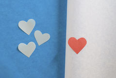 Colored hearts Royalty Free Stock Photos