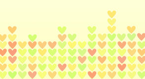 Colored hearts in a mosaic Royalty Free Stock Images