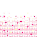 Colored hearts in a mosaic Stock Photography