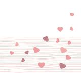 Colored hearts in a mosaic, pattern Royalty Free Stock Photography