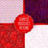 Colored hearts pattern set Royalty Free Stock Photo