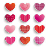 Colored Hearts Set Royalty Free Stock Photography