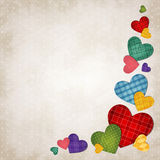 Colored hearts. Vector illustration of colored hearts on vintage background Royalty Free Stock Images