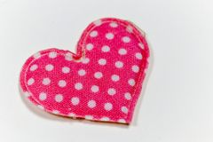 Colored hearts with white background Stock Photography