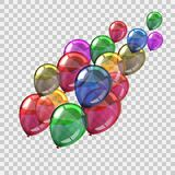 Colored helium balloons - vector illustration
