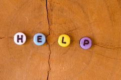 Colored help Stock Images
