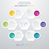 Colored hexagons with shadows Stock Photography