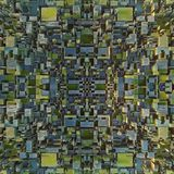 Abstract colored futuristic techno pattern. Digital 3d illustration Stock Image