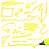 Colored highlighter with markings Royalty Free Illustration