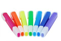 Colored Highlighter Pens Royalty Free Stock Photos