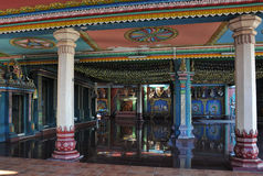 Colored Hindu Temple in the Reunion Island Stock Image