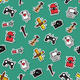 Colored hobby pattern Stock Photography