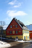 Colored holiday house. Resort Altenberg Stock Photo