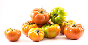 Colored homegrown tomatoes composition (Solanum lycopersicum) Stock Photography