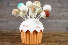 Colored lollipops. Colored homemade lollipops closeup arrangement Stock Photography